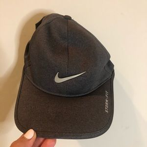 Nike Golf Hat in Gray with White Swoosh